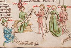 Wolfenbüttel, Herzog August Bibliothek,  Thomasin <Circlaere>   Welscher Gast (W) — Süddeutschland, 3. Viertel des 15. Jhs. Cod. Guelf. 37.19 Aug. 2° Folio 35r