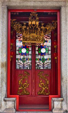 Chinese Temple door, Kuala Lumpur, Malaysia,