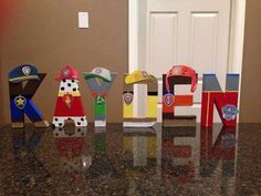 Paw Patrol Custom Name Letters - price is per letter - Baby birthday - teig Third Birthday, 4th Birthday Parties, Baby Birthday, Birthday Ideas, Birthday Cupcakes, Personajes Paw Patrol, Paw Patrol Bedroom, Paw Patrol Room Decor, Mickey Mouse