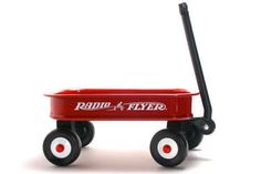 A table-top version of the original childhood classic! Our Radio Flyer Red Wagon measures 8 by 13 inches, with room inside for flowers, stuffed toys, a diaper cake - your imagination dictates the centerpiece for our Red Wagon Party. Assembly required.