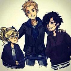 Annabeth, Luke and Thalia