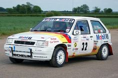 Vauxhall Nova / Opel Corsa rally car - My partner won a rally in one of these in the 90's, which took place all round Yorkshire, UK.