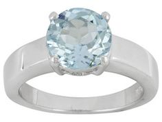 Glacier Topaz(Tm) 2.90ct Round Sterling Silver Solitaire Ring