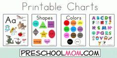 Lots of colorful printables for teaching preschoolers.