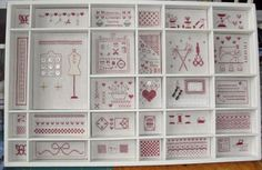 Shadow boxes and printers trays are ideal for displaying mini handworks..