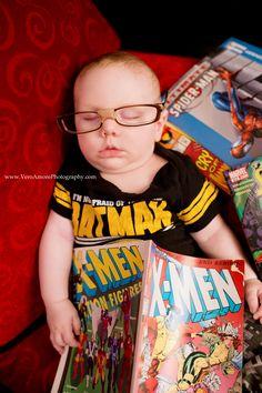 super hero comic book newborn photography milestone boy photograph ideas baby super hero