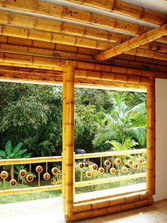 Bamboo Roof, Bamboo Poles, Bamboo Fence, Bamboo Building, Natural Building, Bamboo House Design, African House, Bamboo Structure, Bamboo Construction