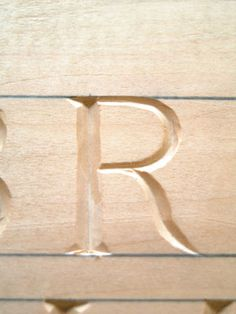 the pencilled guidelines Carving Letters In Wood, Wood Carving, Diy Signs, Wood Signs, Butter Molds, Chip Carving, Gravure, Wood Work, Decorating Tips