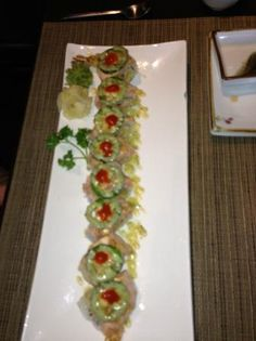 one of the rolls, not sure which! at the Asoyami Japanese Restaurant in Winnipeg.