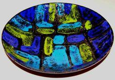 Vintage enameled bowl by Vallenti.