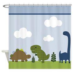 Adorable Dino/Dinosaur Shower Curtain on CafePress.com
