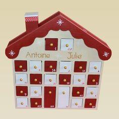 Wooden House Advent Calendar, Xmas, Christmas, Creations, Etsy, Holiday Decor, Crafts, Holidays, Inspiration