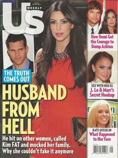 US Weekly magazine Kim Kardashian Ashton Kutcher Demi Moore Jennifer Lopez