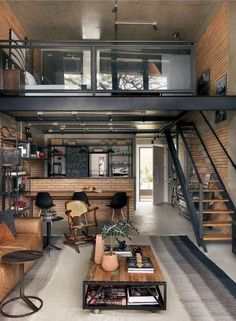 Wood House Design, Loft Design, Tiny House Design, Modern House Design, Modern Tiny House, Tiny House Plans, Modern Houses, Home Design Plans, Home Interior Design