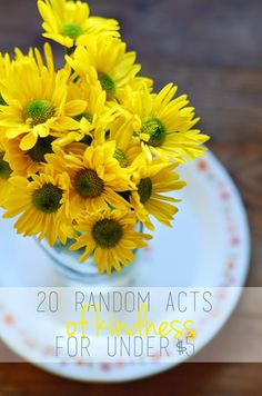 20 random acts of kindness for $5 or less www.nataliecreates.com