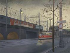 Antonín Střížek - Železniční most Exhibitions, Auction