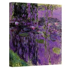 Wrapped canvas print of Claude Monet's Lavender Water Lilies. Made in the USA.  Product: Wall artConstruction...