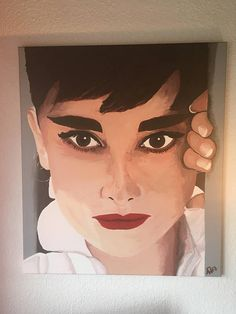Audrey Hepburn large acrylic painting realistic portrait face Audrey Hepburn, Drawing Sketches, Drawings, Watercolor Pencils, Acrylic Art, Portrait, Illustration Art, The Incredibles, Face Beauty