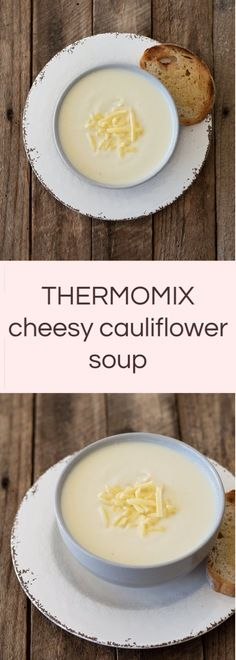 Thermomix Cheesy Cauliflower Soup Creamy dreamy and delicious! This Thermomix Cheesy Cauliflower Soup is perfect to beat the winter chill. Cheesy Cauliflower Soup, Cauliflower Soup Recipes, Cooking Recipes, Healthy Recipes, Cheesy Recipes, Yummy Recipes, Thermomix Soup, Eating At Night, Fabulous Foods