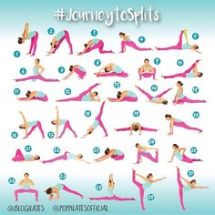 Yoga for flexibility challenges 30 Days & 30 Stretches to Splits! -I may not do the splits but these look like some great stretches! Yoga Fitness, Fitness Workouts, At Home Workouts, Health Fitness, Fitness Jokes, Ballet Fitness, Fitness Motivation, Short Workouts, Fitness Shirts
