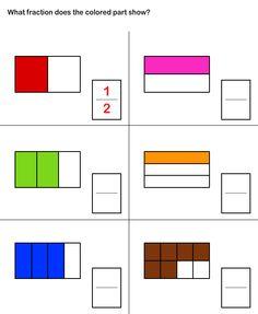 Math Worksheets, Grade-2 Worksheets, Fractions Worksheet