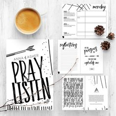 28 Day Prayer Journal by Anna of Asher lays out four weeks of guided prayer using Scripture and a simple PRAY outline. Christmas Gift, Journal, Stocking Stuffer, Birthday, Graduation, Mother's Day