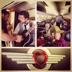 Lee performs live Sept.10/13 from airplane.....lucky passengers..so much better than a movie @Olivia Eggers In The Vineyard   @Erin Casteel Airlines ...