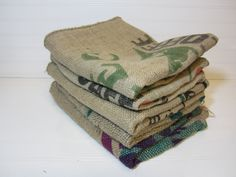 Burlap Coffee Sacks for in the kitchen