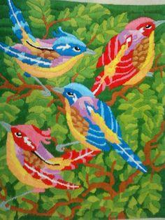 DIY:: Long stitch - Sparrows :)