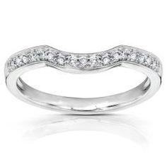 @Overstock - Round diamond Wedding Band14k-karat white gold jewelry  http://www.overstock.com/Jewelry-Watches/14k-White-Gold-1-6ct-TDW-Diamond-Curved-Wedding-Band-H-I-I1-I2/5137249/product.html?CID=214117 $299.99