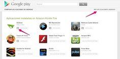 Como desinstalar o actualizar aplicaciones de Android desde la web de Google Play
