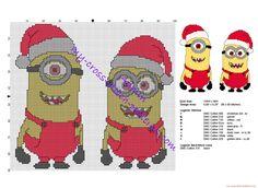 Christmas Minions free cross stitch pattern