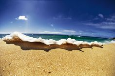 Foam leap 1998 by Sean Davey, North Shore, Oahu, Hawaii. Someday I will visit here.
