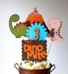 Dinosaur Birthday Centerpiece by KellyKrockerKreates on Etsy,