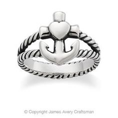 Faith, Hope & Love Twisted Ring from James Avery on Wanelo