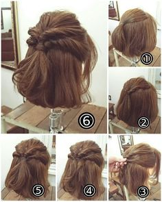 170 Easy Hairstyles Step by Step DIY hair-styling can help you to stand apart from the crowds. - 170 Easy Hairstyles Step by Step DIY hair-styling can help you to stand apart from the crowds – P - Medium Hair Styles, Curly Hair Styles, Short Hair Updo, Short Hairstyle Tutorial, Messy Updo, Pinterest Hair, Hair Hacks, Hair Lengths, Braided Hairstyles