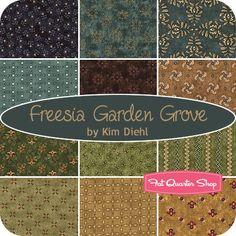 Freesia Garden Grove Fat Quarter Bundle Kim Diehl for Henry Glass Fabrics - Fat Quarter Shop