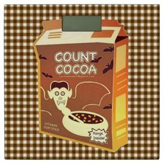 Count Cocoa Cereal Box bathroom scale - Halloween happyhalloween festival party holiday