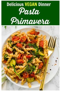 Looking for a yummy pasta recipe? Then try this Vegan Pasta Primavera with roasted vegetables. It's tossed in garlic herb lemon butter and for once without loaded pasta sauce. With make ahead of time tips . Roasted Vegetable Pasta, Roasted Vegetables, Veggies, Pasta Primavera, Indian Food Recipes, Vegetarian Recipes, Vegetarian Platter, Delicious Recipes, Vegan Vegetarian