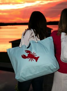absolutely need a lobster-inspired tote for my weekend jaunts to the Cape, Newport and costal Maine. Lobster Party, New England Prep, Classy And Fabulous, Cute Love, Casual Looks, Preppy, How To Look Better, Summertime, Style Me