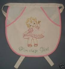Image result for embroidered  aprons