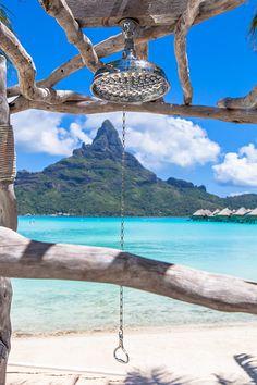 Shower with a view, Bora Bora ♡Honeymoon Destination♡