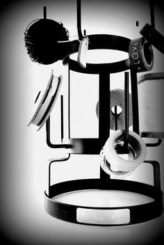 Black & White interior  bottle rack ~ masking tape