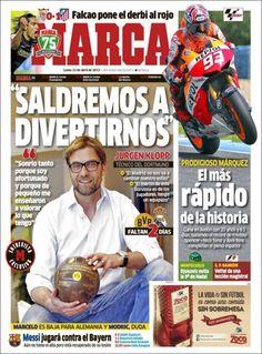 Los Titulares y Portadas de Noticias Destacadas Españolas del 22 de Abril de 2013 del Diario Deportivo Marca ¿Que le parecio esta Portada de este Diario Español?