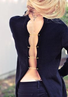 DIY Versace-Inspired Open Back Sweater | Styleoholic