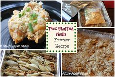 Taco Stuffed Shells Freezer Meal Recipe - Must Have Mom