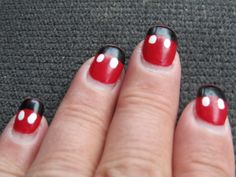 My nails last summer for our trip to Disneyland (did my toes, too!)