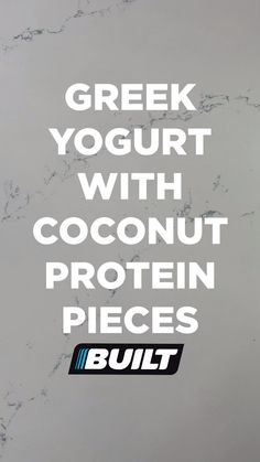 Use code PIN15 for 15% off of your Built Bar purchase! What you need for this recipe: your choice of coconut greek yogurt, 1 Coconut Built Bar, and coconut flakes. Instructions for this recipe: Mix up your greek yogurt. With a knife & cutting board, cut up your Coconut Built Bar into bite-sized pieces. Add the pieces of protein bar to your yogurt & top it off with coconut flakes. Enjoy! NOTE: The coconut bar can be substituted for any of your favorite Built Bars. Best Tasting Protein Bars, Protein Bar Recipes, Protein Foods, Low Carb Recipes, Cooking Recipes, Healthy Recipes, Coconut Protein, Coconut Bars, Food Gifs