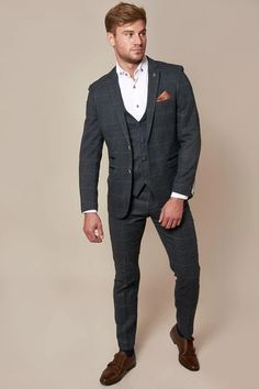 Click here to discover our collection of Men's 3 Piece Suits. Browse our vintage inspired designs in a variety of prints, colours & materials. Shop today! Mens 3 Piece Suits, Three Piece Suit, Mens Suits, Blue Tweed Suit, Tweed Suits, Classic Blue Suit, Classic Blues, Suit Drawing, Double Breasted Waistcoat