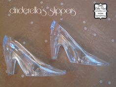 6 glass slippers - embellishing and glittering - christmas ornament - wedding - cinderella - party favor by cathiefilian on Etsy https://www.etsy.com/listing/56922033/6-glass-slippers-embellishing-and